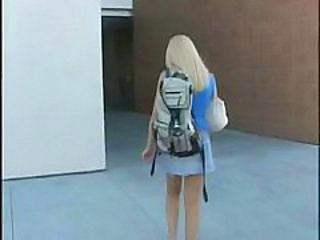 Amateur Blonde Skirt Student Teen