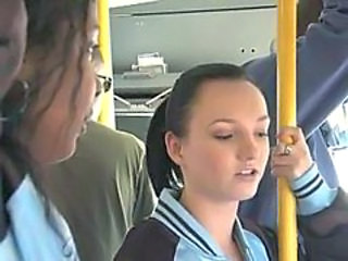 Amateur Brunette Bus Cute Teen