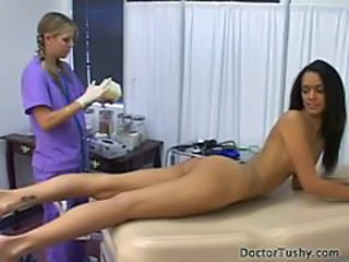 TYRA BANXX GETS A PHYICAL EXAM