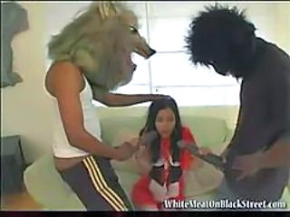 Monster cock attack for the hot petite teen taking it all in