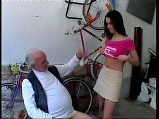 Old and Young Skirt Stripper Young