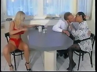 Chick has milk and cock stuffed into her pussy