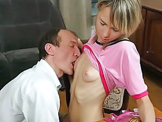 Pigtailed sexy cunt rides a dick hard for a grade A.