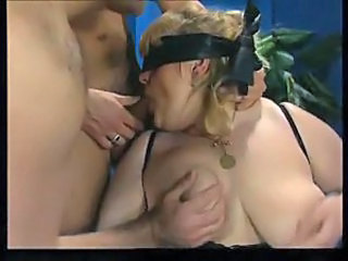 Fatty gangbanged and fisted and cummed on