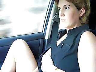 Amateur Car Cute MILF Wife
