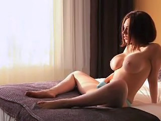 Babe Big Tits Cute Masturbating