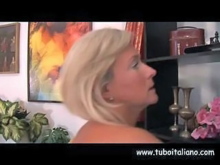 Blonde European Italian Mature
