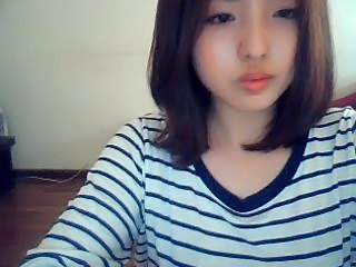 korean girl on web cam...