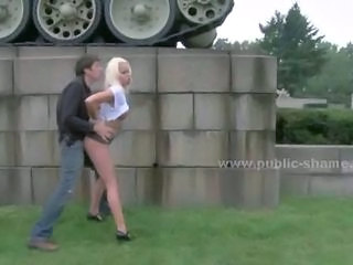 Blonde Cash Clothed Doggystyle Hardcore Outdoor Public