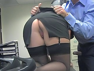 Ass Office Pornstar Secretary Skirt Stockings
