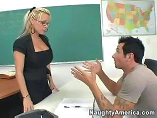 Amazing Big Tits Blonde Cute Glasses MILF School Teacher