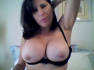 Gros seins Brunette Mature Naturel Webcam