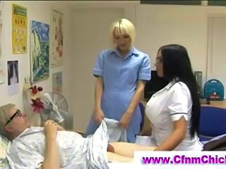 Big Tits Brunette CFNM Long hair Nurse Uniform