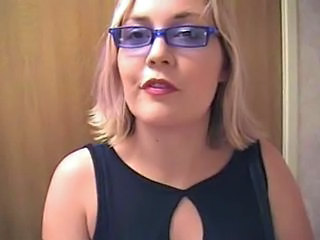 Blonde Glasses MILF Swallow