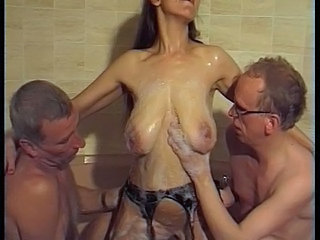 Bathroom Big Tits Groupsex Mature Older SaggyTits