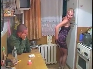 Kitchen MILF Russian Stockings