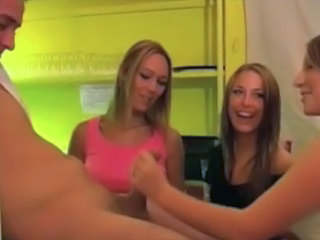 Babe British CFNM Cute European Handjob