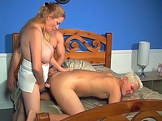 Large tit ambisexual threesome
