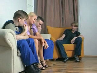 Blonde Cuckold Groupsex Russian Wife