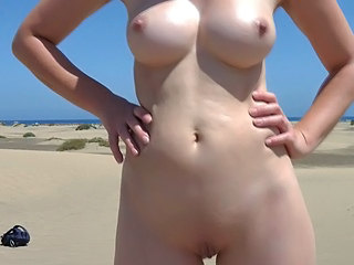 Beach Nudist Shaved