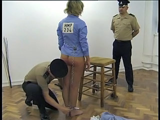 Ass Blonde Prison Threesome Uniform