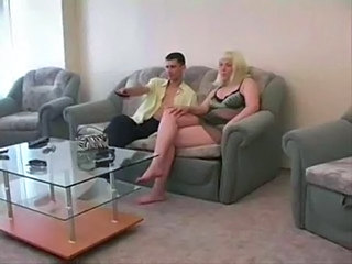 PLUMP BLONDY MATURE AND GUY