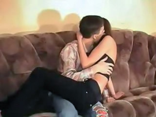 Amateur Brunette German Kissing Teen
