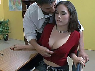 Big Tits Brunette Cute Office Teen