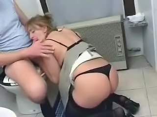 Amateur Ass Blonde Blowjob Lingerie Mature Mom Toilet