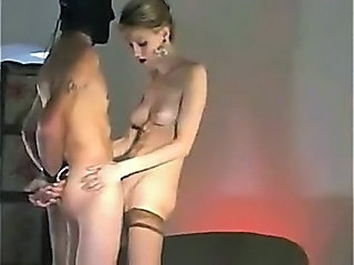 Mistress Strokes Slave And Takes Him In Pussy