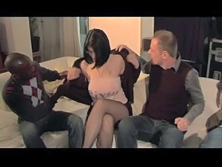 Big Tits Brunette French Interracial MILF Pornstar Threesome