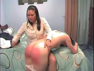 Ass Brunette Mom Panty Spanking