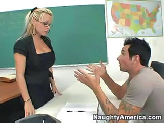 Babe Big Tits Blonde Glasses Pornstar School Teacher