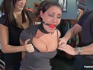 Bondage Please.  Charley Chase Is Publically Embarrassed In A Local Ba...