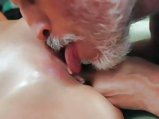 Slut Alanah Rae Is Clit Licked By An Old Man