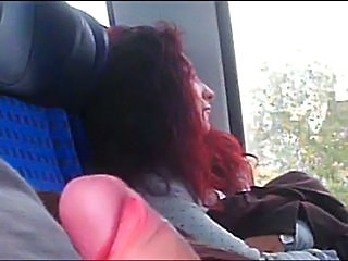 Bus Public Redhead Teen Train