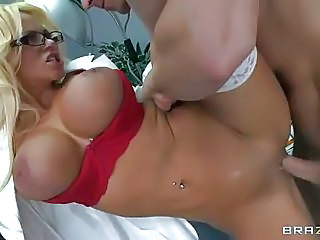 Uniformed Four-eyed Lady Doctor Nikita Von James With Perfect Huge Tit...