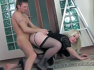 Blonde Chubby Doggystyle Hardcore Mature Stockings