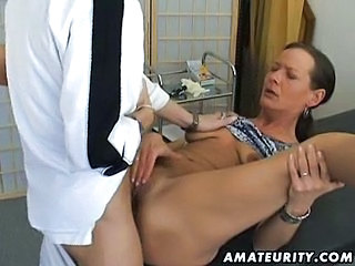 Amateur Brunette Doctor Mature
