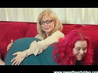 Nina Hartley Fucks a BBW Readhead Til They Both Cum