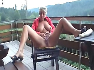 Big Tits Blonde Masturbating Mature Outdoor