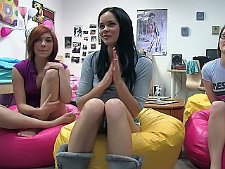 Cute Lesbian Party Student Teen Young