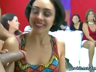 Blowjob Brunette CFNM MILF Party