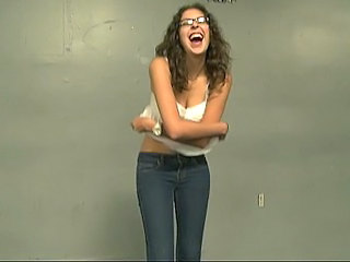 Amateur Cash Glasses Jeans Stripper Teen