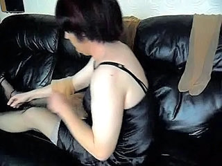 Sue play with her nylons