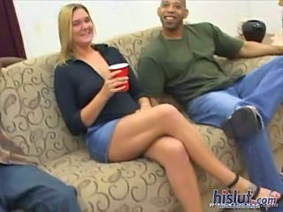 Incroyable Blonde Interracial Epouse