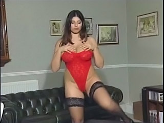 Babe Big Tits Brunette Lingerie Stockings