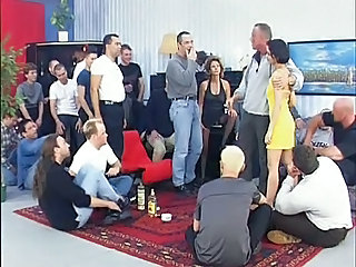 European Gangbang German Mature