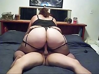 Amateur Ass BBW Homemade Riding Stockings