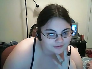 BBW Cute Glasses Teen Webcam